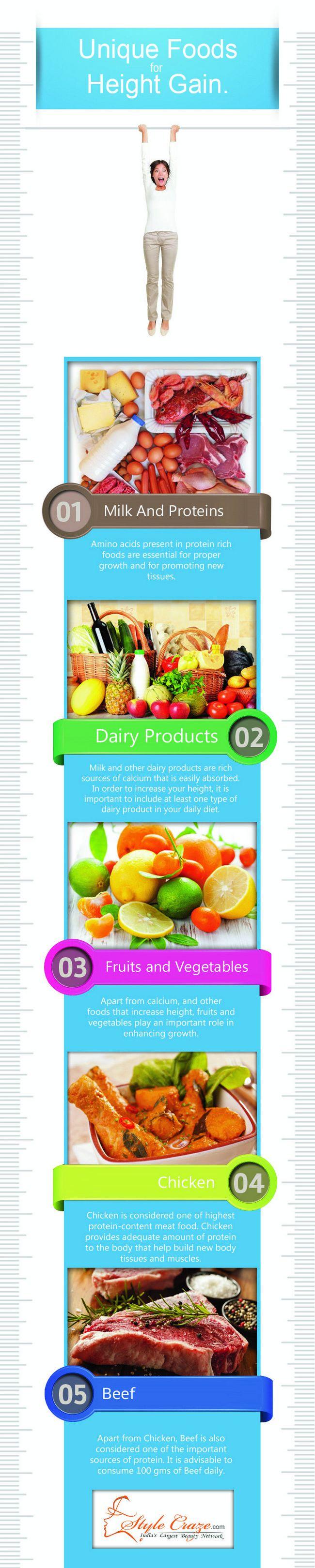 10 Aliments étonnants et de l`alimentation pour augmenter la hauteur