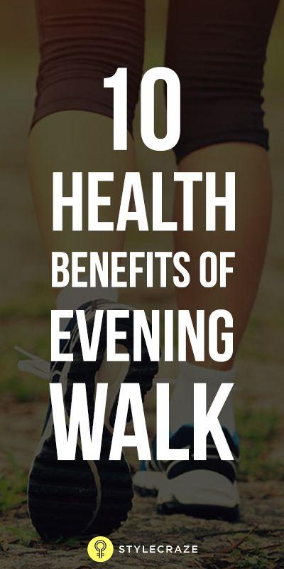 10 Avantages pour la santé incroyable de promenade du soir