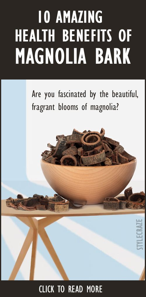 10 Avantages pour la santé incroyable d`écorce de magnolia