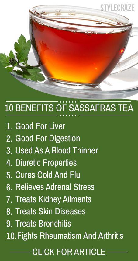 10 Avantages pour la santé incroyable de thé de sassafras