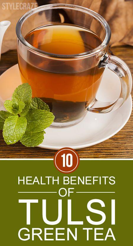 10 Avantages pour la santé incroyable de thé vert Tulsi
