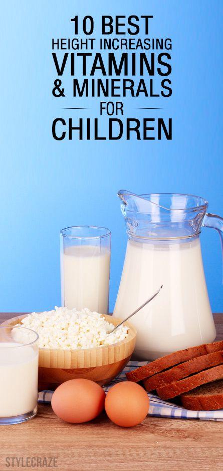 10 Les meilleures vitamines augmentation de la hauteur et de minéraux pour les enfants