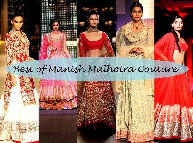 10 La meilleure collection de mariée Manish Malhotra de lehenga conceptions avec des étiquettes de prix