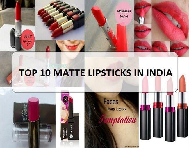 10 Meilleures marques de rouge à lèvres mat et la gamme en Inde