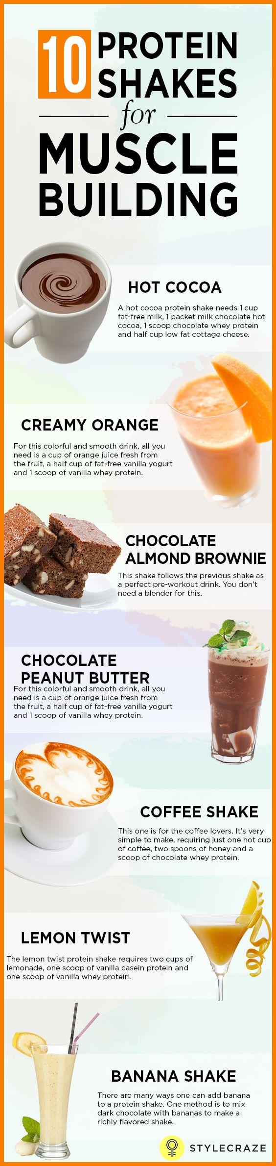 10 Meilleur shakes protéinés pour les muscles du bâtiment