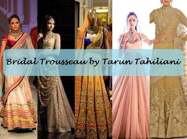 10 Les meilleurs modèles de collection mariée Tarun de Tahiliani: lehengas avec les prix