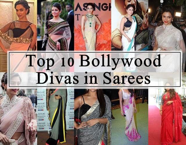 10 Actrices de Bollywood dans leur meilleur saris