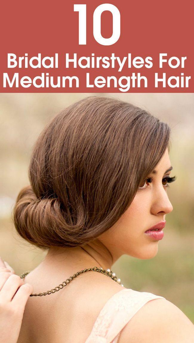 10 Coiffures de mariée pour les cheveux de longueur moyenne