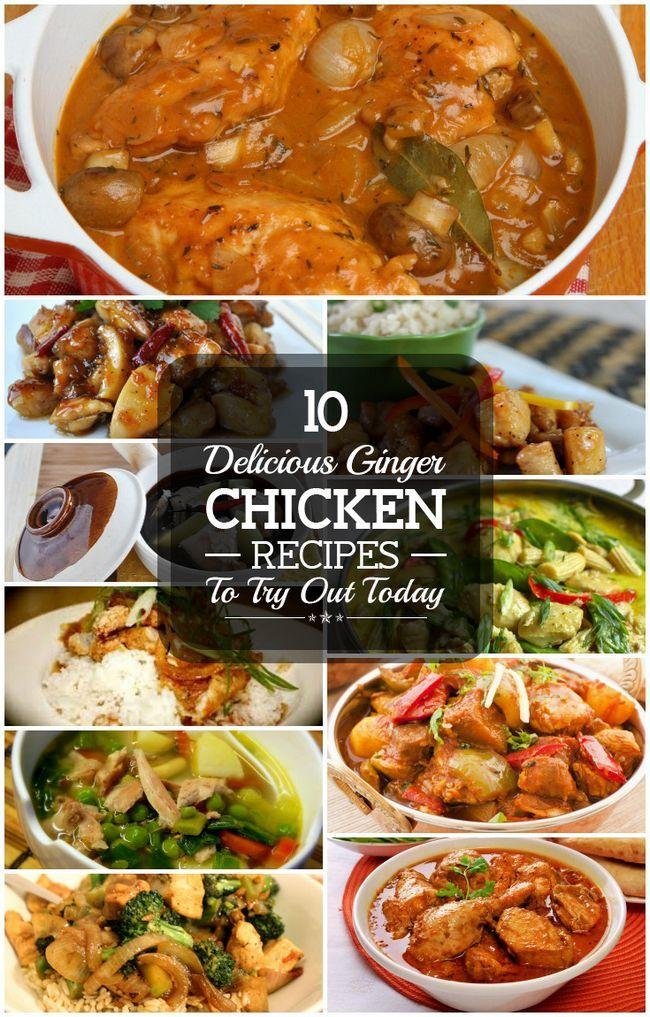 10 Délicieuses recettes de poulet au gingembre pour essayer aujourd`hui