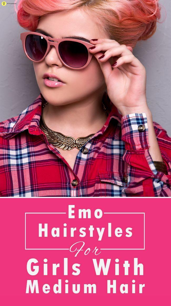 10 Coiffures Emo pour les filles avec les cheveux moyen