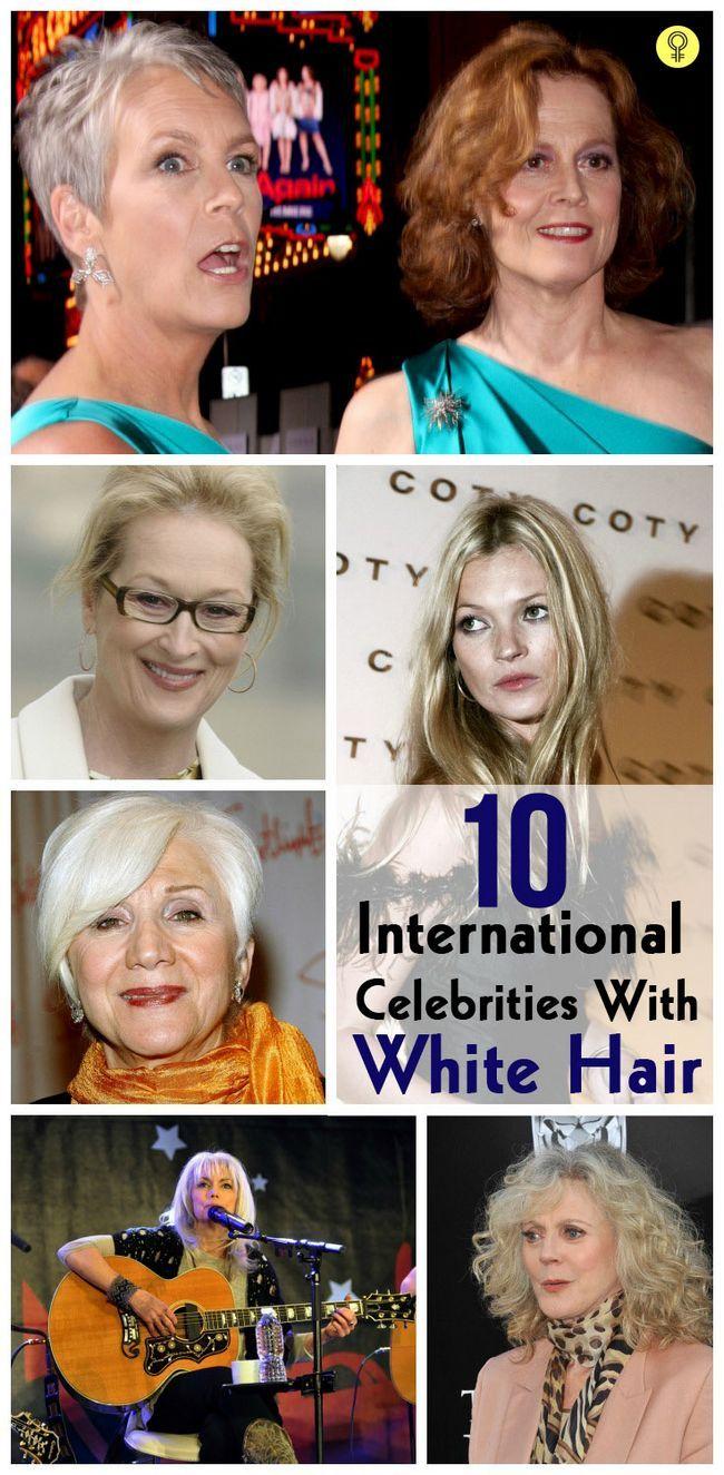 10 Célébrités internationales célèbres avec les cheveux blancs