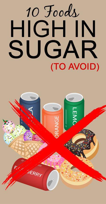 10 Les aliments riches en sucre (pour éviter)