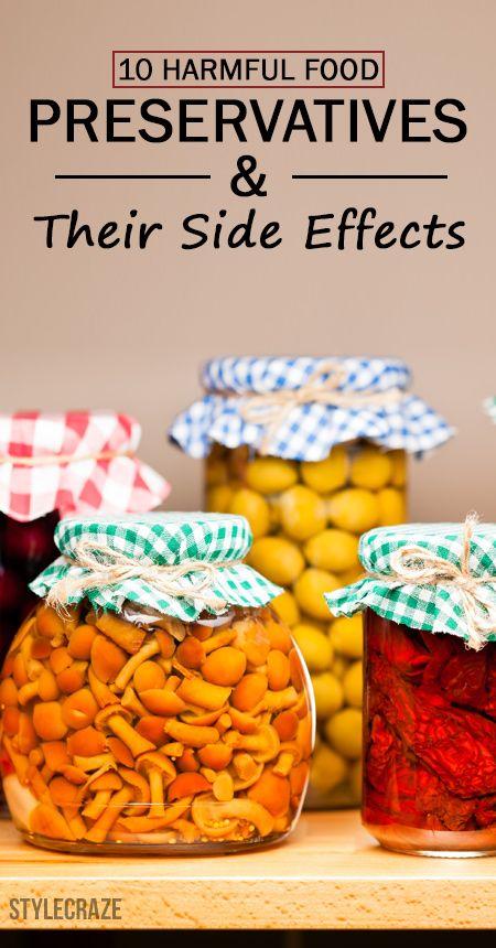 10 Conservateurs alimentaires nuisibles et leurs effets secondaires