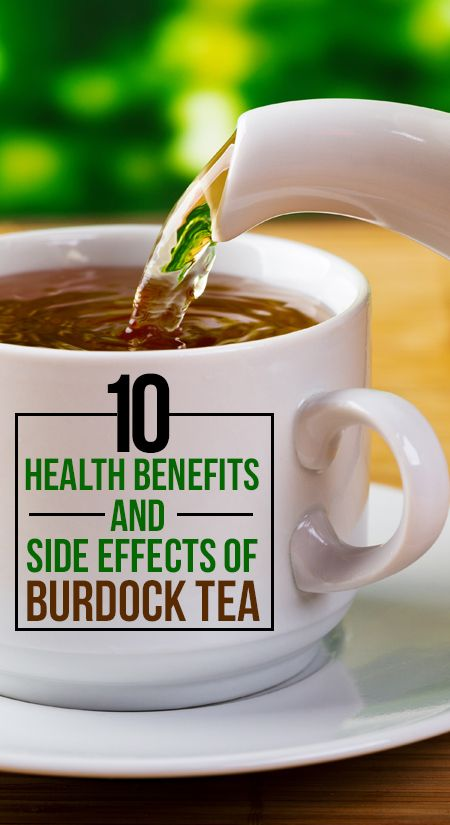 10 Avantages pour la santé et les effets secondaires de thé de bardane