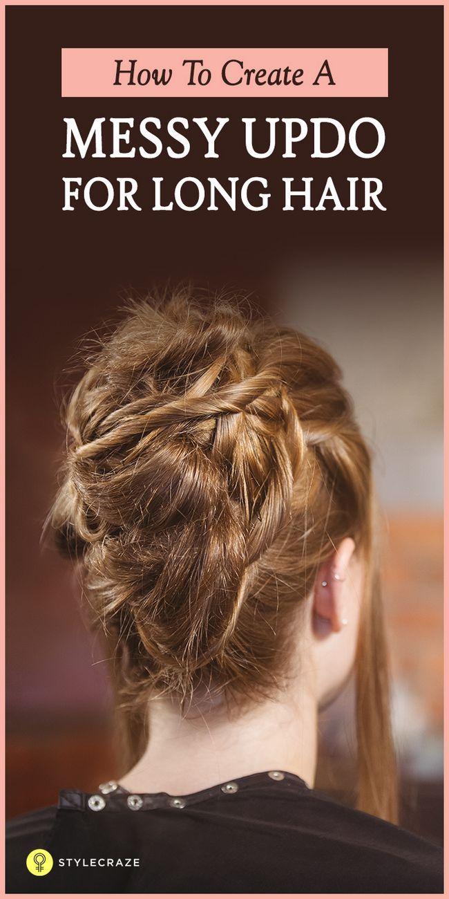10 Chignons crade pour cheveux longs