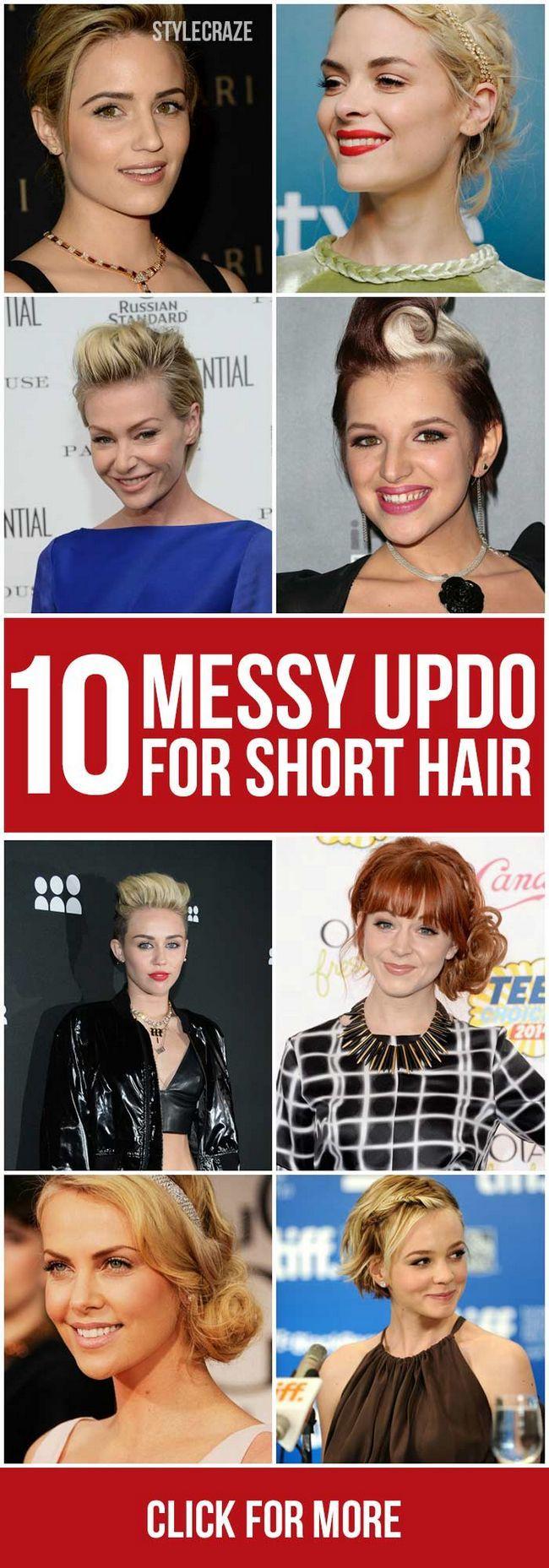 10 Chignons crade pour cheveux courts