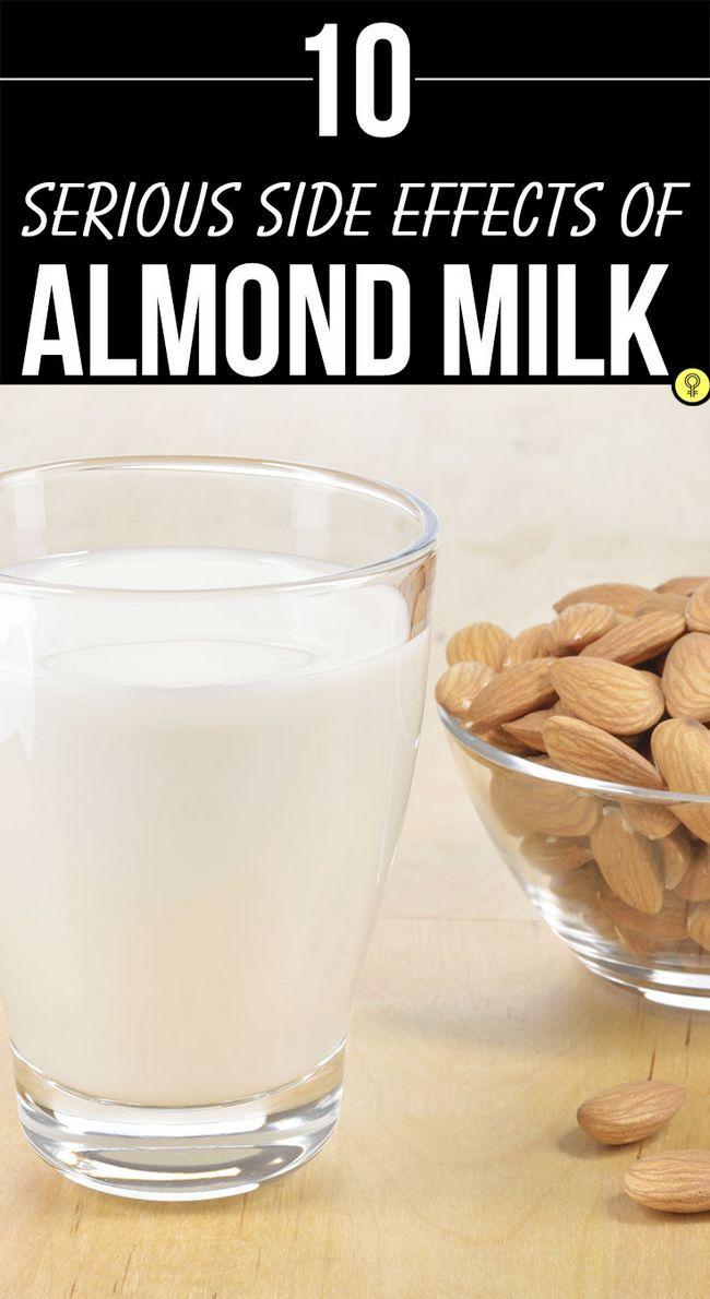 10 Les effets secondaires graves de lait d`amande