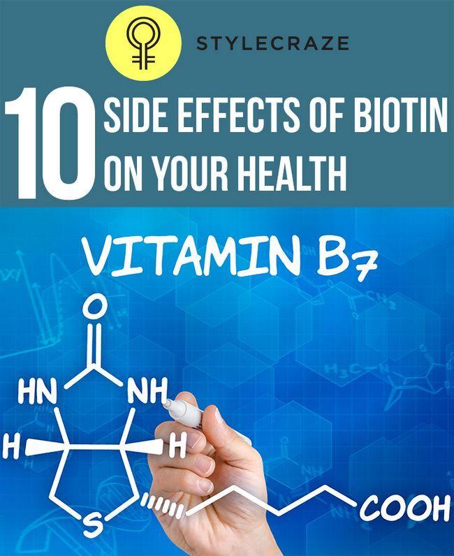 10 Effets secondaires graves de la biotine sur votre santé