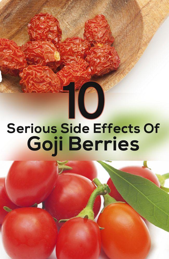 10 Les effets secondaires graves de baies de Goji