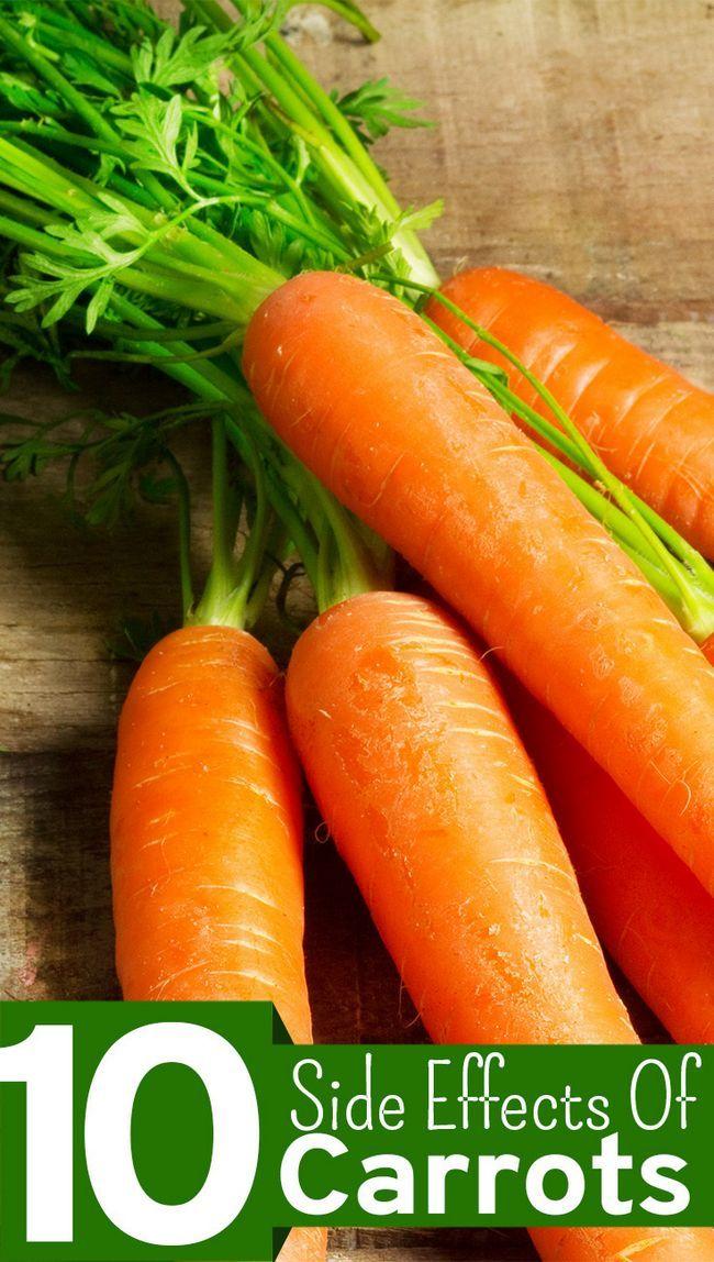 10 Les effets secondaires de carottes que vous devriez être au courant
