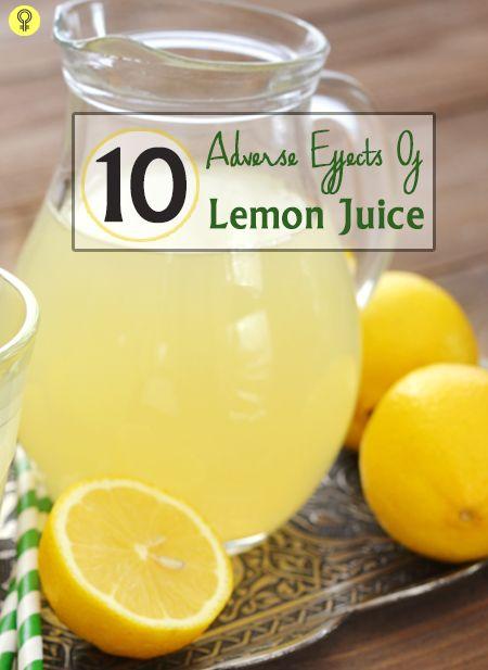 10 Effets secondaires de jus de citron