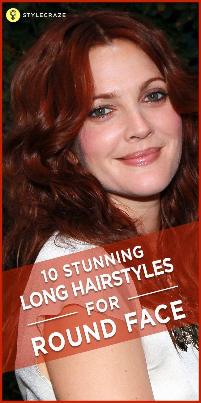 10 Coiffures longues superbes pour les visages ronds