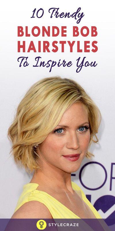 10 Coiffures bob blond à la mode pour vous inspirer