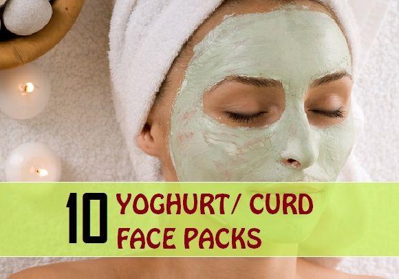10 / Yaourt packs visage caillé pour différents types de peau