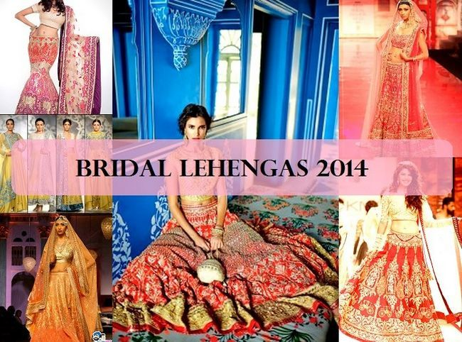 12 Meilleurs designs lehenga de mariage 2014-2015