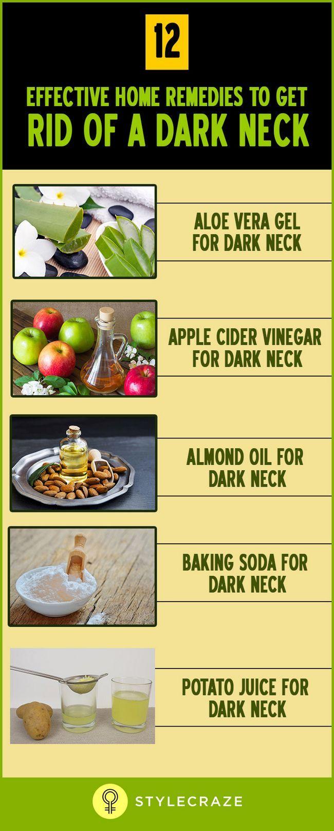 12 Remèdes maison efficaces pour se débarrasser d`un cou noir