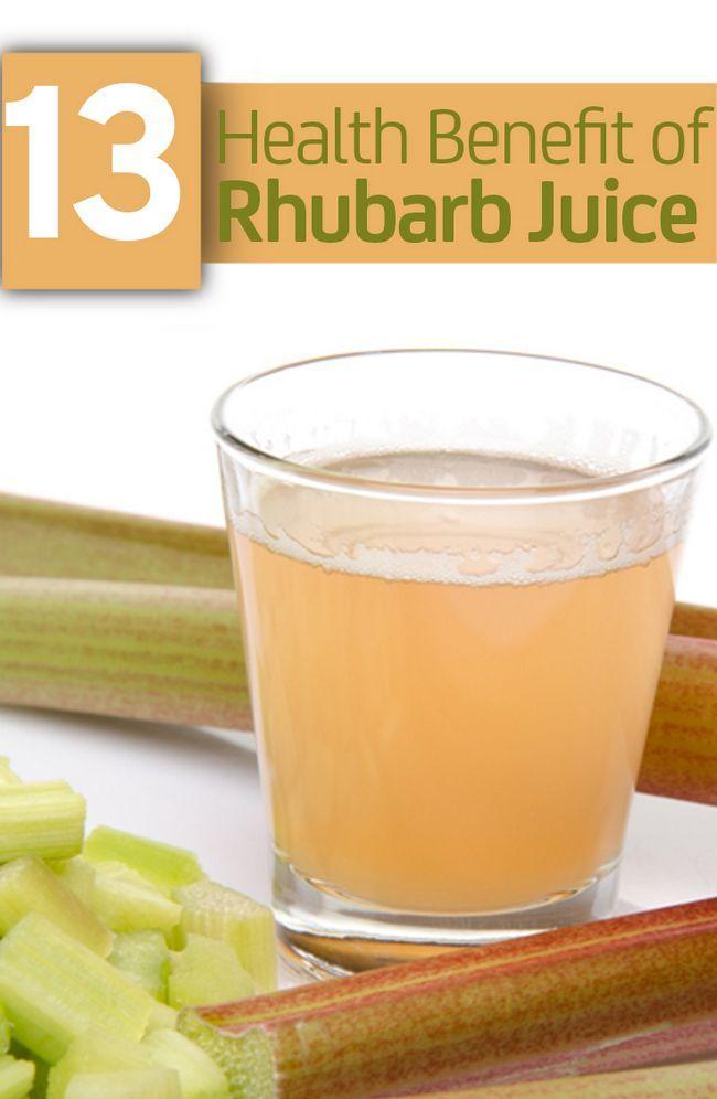 13 Avantages pour la santé incroyable de jus de rhubarbe