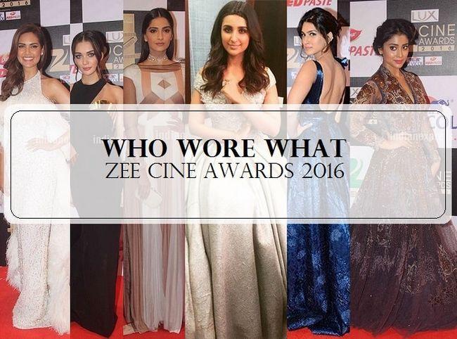 14 Célébrités meilleur et le pire habillés de prix cine zee 2016