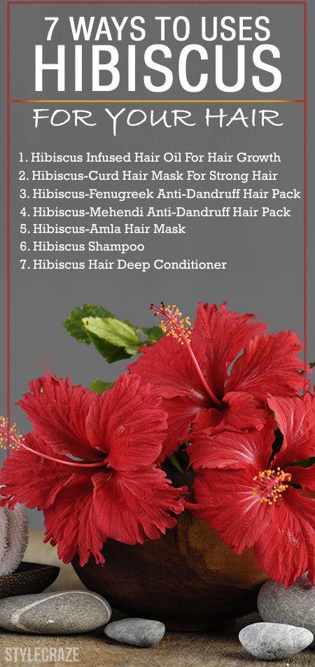 15 Façons incroyable d`utiliser l`hibiscus pour vos cheveux
