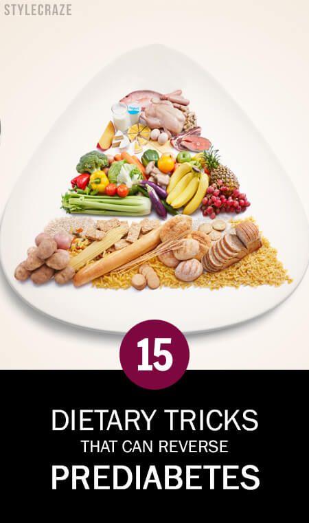 15 Astuces alimentaires qui peuvent inverser prédiabète!