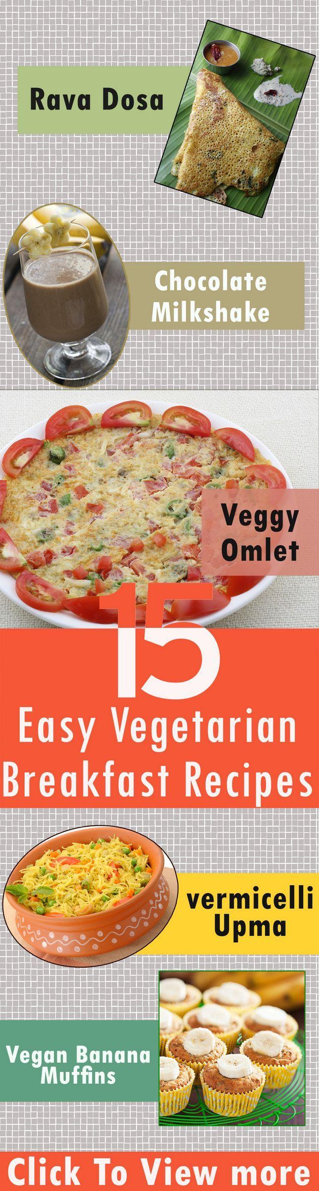 15 Recettes de petit-déjeuner végétarien pour essayer aujourd`hui