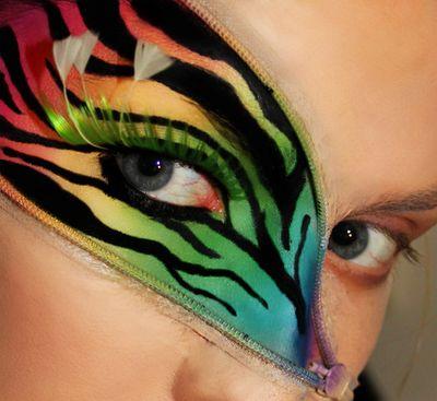 17 Animaux inspirés des regards de maquillage créatif