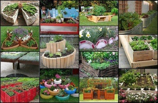 20 Uniques et d`amusement soulevé des idées de lit de jardin