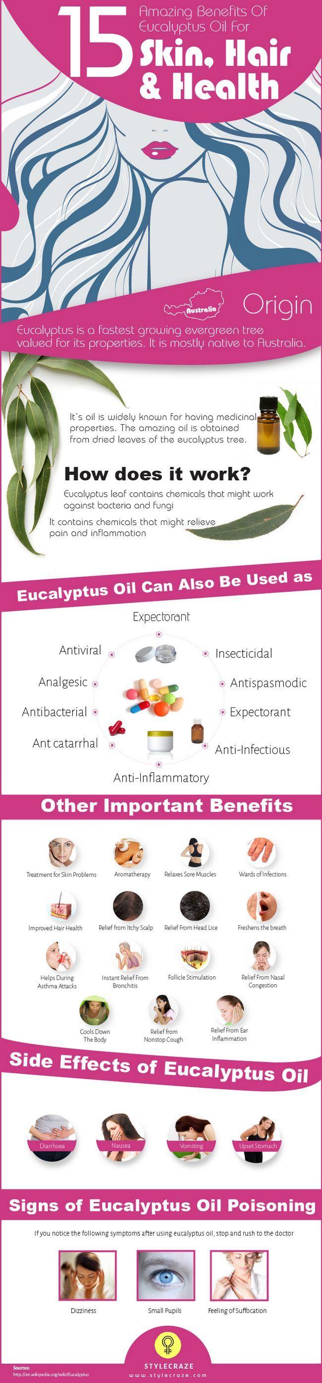 23 Avantages étonnants de l`huile d`eucalyptus pour la peau, les cheveux et la santé