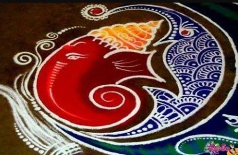 30 Meilleurs designs rangoli coin: images rangoli simples pour Diwali