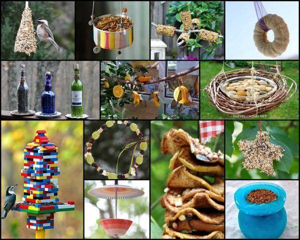 34 Incredible mangeoires d`oiseaux qui rempliront diy votre jardin avec de beaux oiseaux