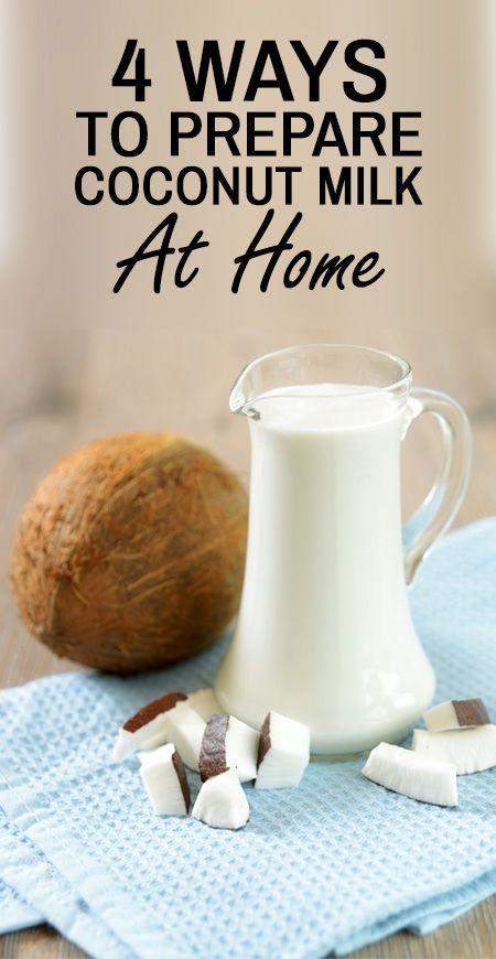 4 Façons simples pour préparer le lait de coco à la maison