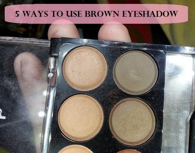 5 Meilleures façons sur la façon d`appliquer les ombres à paupières brunes: sur les yeux et le visage