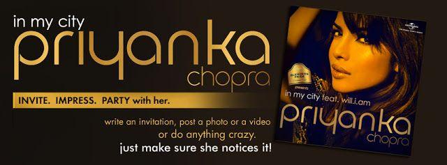 5 De vous pouvez gagner une chance de faire la fête avec priyanka chopra!