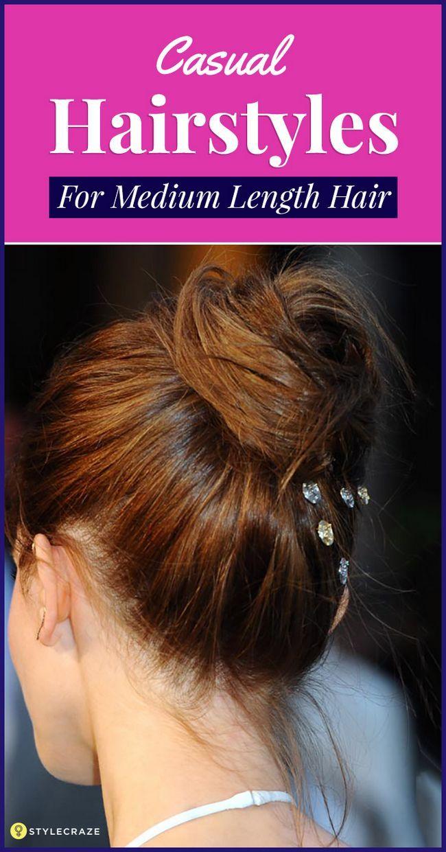 50 Coiffures simple de cheveux de longueur moyenne