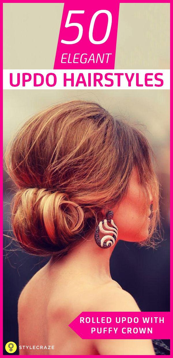 50 Magnifiques coiffures updo court