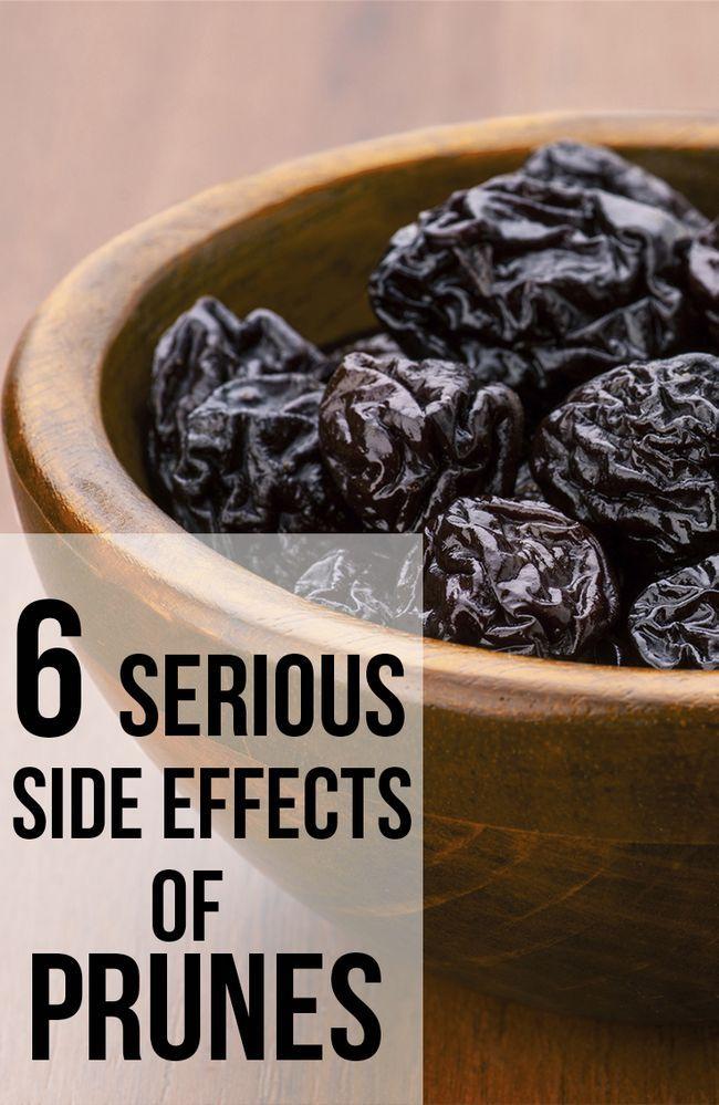6 Les effets secondaires graves de pruneaux