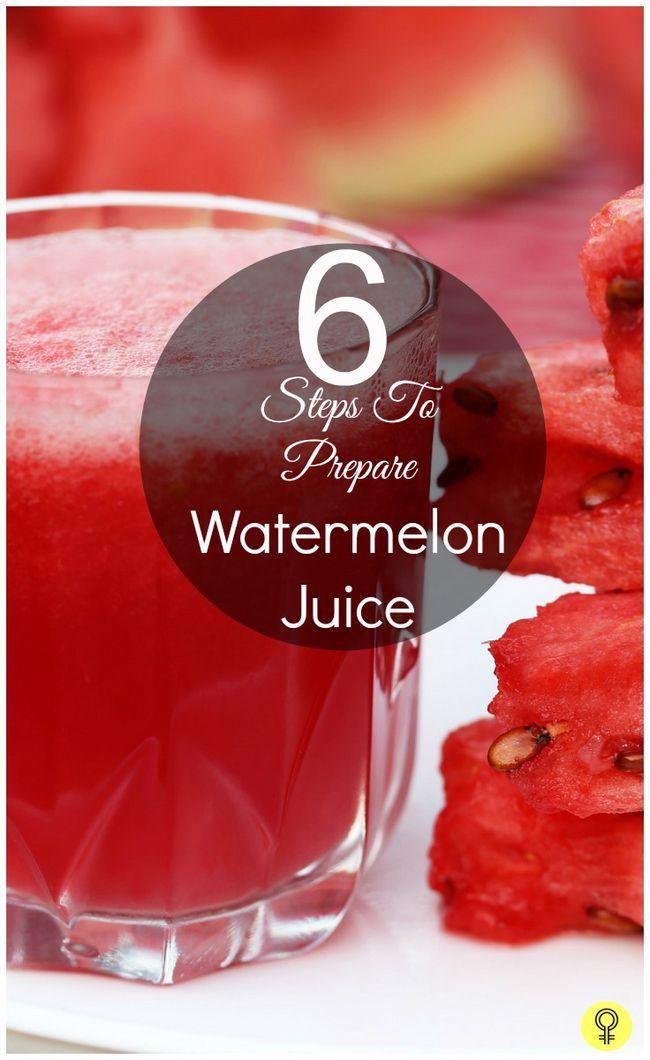 6 Étapes simples pour préparer le jus de pastèque
