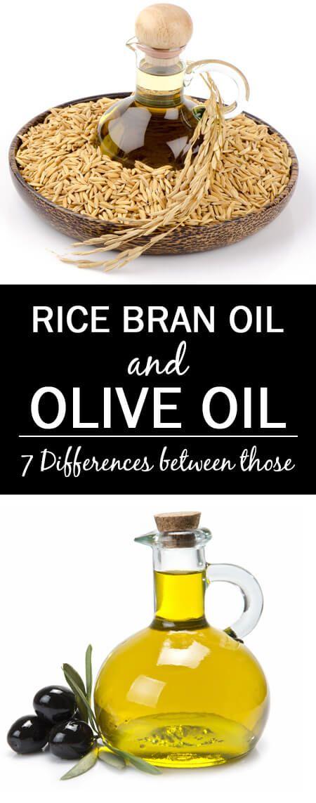 7 Différences entre l`huile de son de riz et de l`huile d`olive