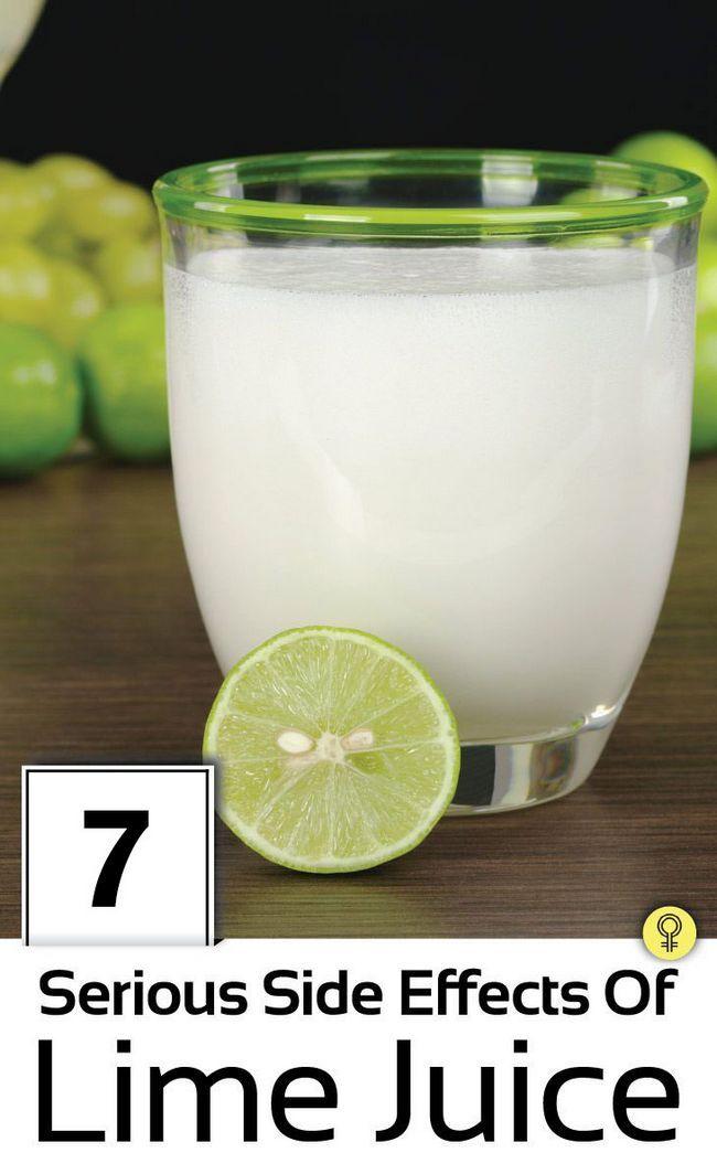 7 Effets secondaires graves du jus de citron vert