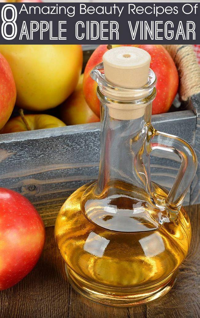 8 Recettes de beauté incroyable de vinaigre de cidre de pomme